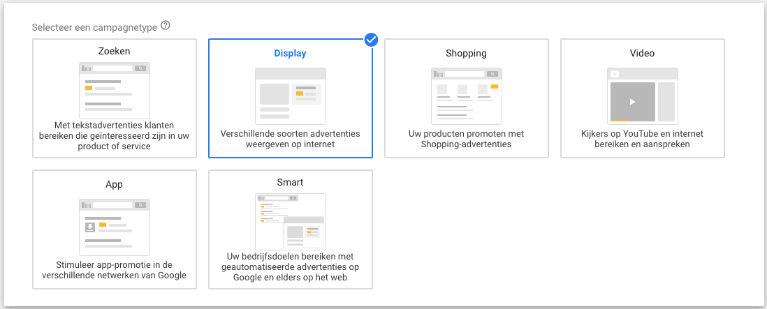 Display campagne aanmaken in Google Ads