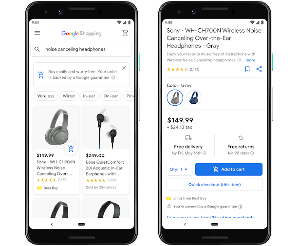 Google Shopping op mobiel