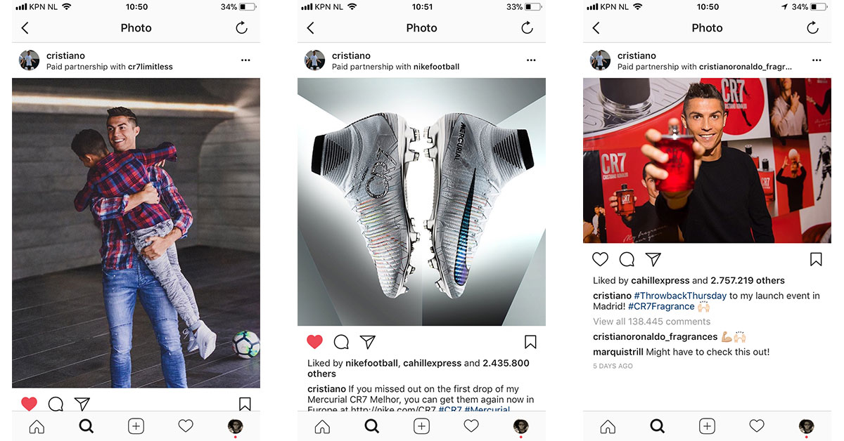 Paid Partnerships Instagram CR7NEW
