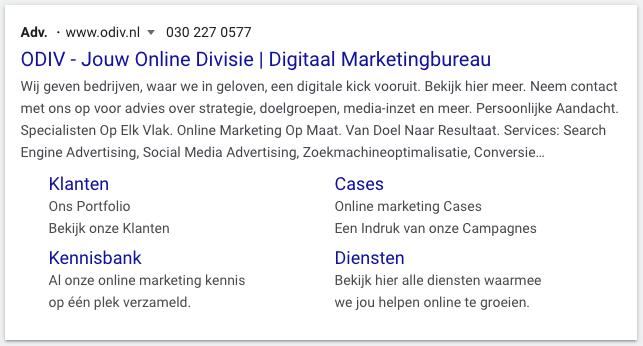 Voorbeeld Google Ads advertentie